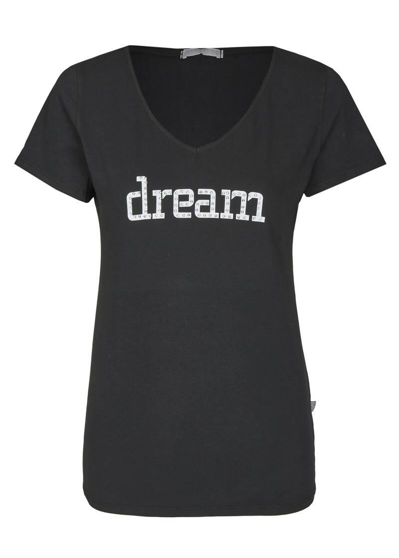 t-shirt mit dream-aufdruck in schwarz | heimatliebe online shop